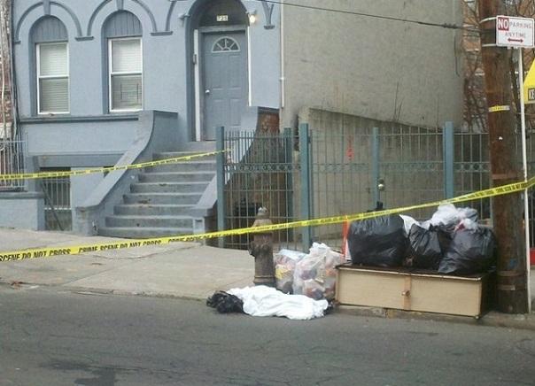 Byrd's body parts were in the trash (courtesy of DNA info/Trevor Kapp)