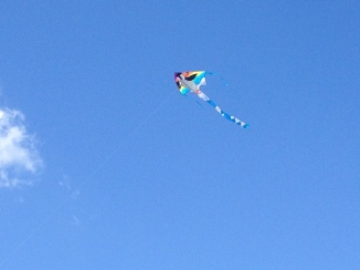 The perfect day for kiting... is that really a word?