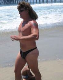 A double whammy: a mullet with a thong (peopleamazeme.com)