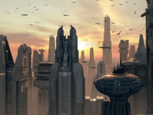 Coruscant or the city of the future? (courtesy of Screen Themes)