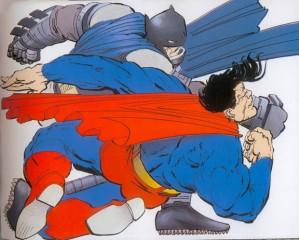 Miller's Batman puts down the Man of Steel (DC Comics)