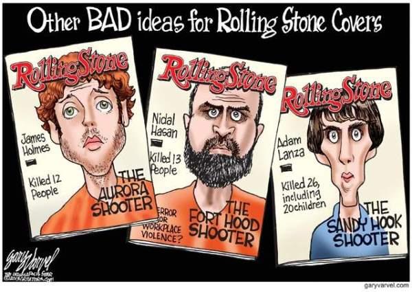 Cartoonist Gary Varvel's take on covers Rolling Stone should avoid (Gary Varvel)