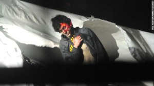 Tsarnaev surrenders to police (Sean Murphy/Boston Magazine)