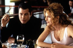 """Travolta and Russo in """"Get Shorty"""" (MGM)"""