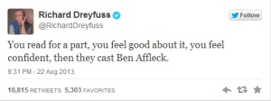 Even other actors tweeted in response (Richard Dreyfuss/Twitter)