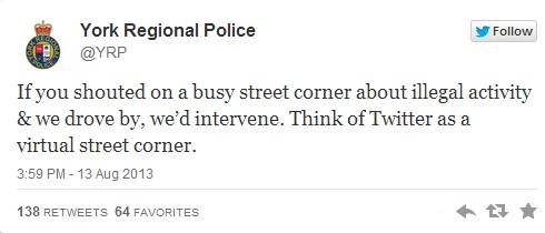 Duh! That's what cops do! (York Regional Police/Twitter)