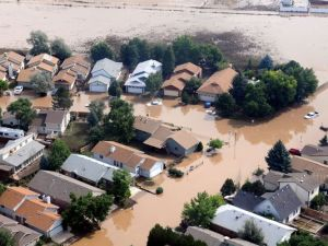 The flooding in Boulder, Colorado (US Army/EPA)