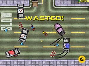 The original Grand Theft Auto (Rockstar Games)