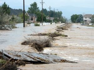 Longmont, Colorado saw extensive damage (Cliff Grassmick/AP)