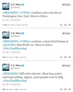 The news of the shooting came first through Twitter (US Navy/Twitter)