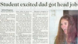 I bet dad is excited, too (University Daily Kansan)