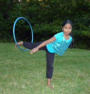 Mridula has mad hula hoop skills! (Shanker family photo)