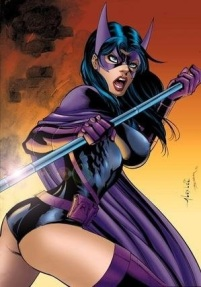 The Huntress discovers a wedgie (DC Comics)