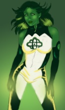 Jade is green and loving it (DC Comics)