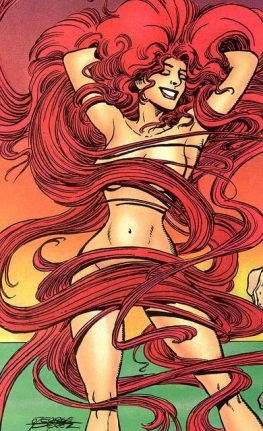 Long red hair in the drain is a small price to pay for Medusa in your bed (Marvel Comics)