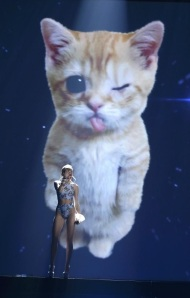 Miley and her pussy steal the show (Lucy Nicholson/Reuters)