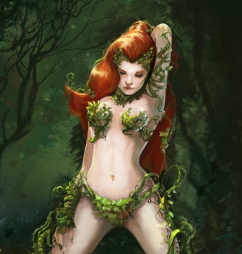 Poison Ivy casts her spell (DC Comics)