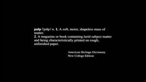 """Title screen from """"Pulp Fiction"""" (A Band Apart/Miramax)"""