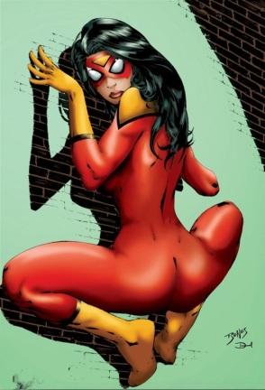 Spider-Woman can be a bit clingy (Marvel Comics)