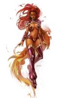 Starfire once dated Robin (DC Comics)