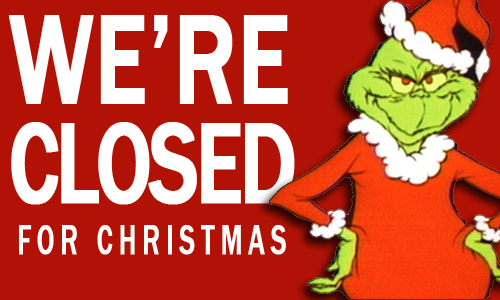 Impertinent image regarding holiday closed signs printable