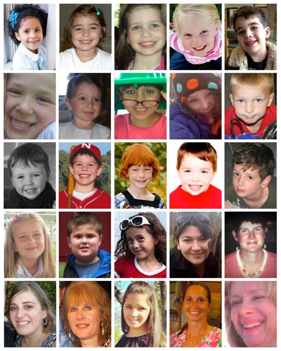 The victims of Sandy Hook (Amanda Jean Brown)