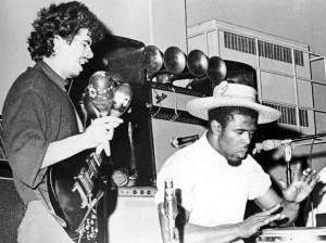 Santana and Malone in 1967 (Facebook/Stanley Roberts/KRON-4)