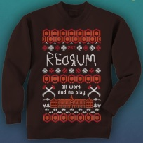 """If you must give a tacky Christmas sweater, at least make it cool like this """"Shining"""" sweater (Fearnet)"""