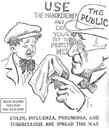 1918 flu cartoon - Office of the Public Health Service Historian