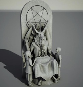 The Baphomet statue design (Temple of Satan)