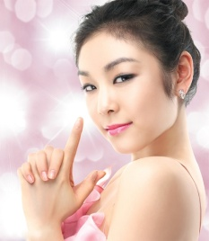 The beautiful South Korean figure skater Kim Yuna just took silver in the ladies' singles at Sochi. Nice!