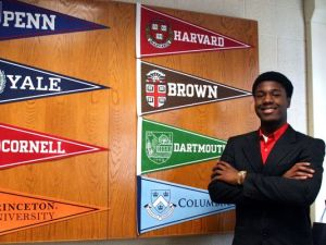 Kwasi has too many schools to choose from! (William Floyd School District)