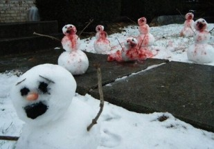 Frosty-on-Frosty crime runs rampant during the holidays (Funny or Die)