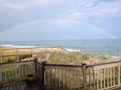 Tell me this isn't a good omen for a beach trip!