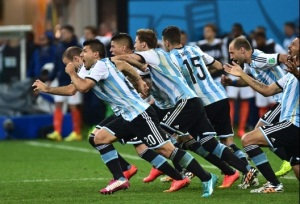 The Dutch fall to Argentina and the celebration begins! (Nelson Almeida/Getty Images)