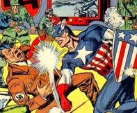 Cap kicks Hitler's ass (Marvel Comics)