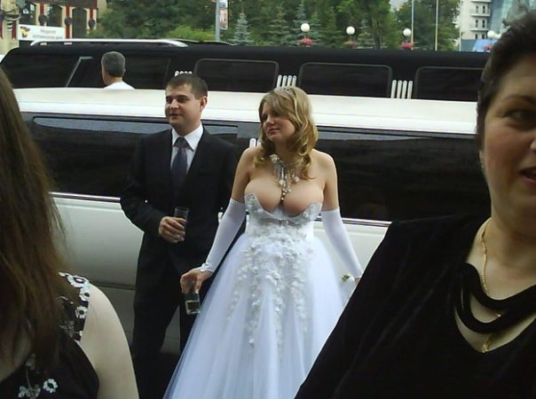 This is either the best wedding dress ever made or the worst. Not sure which... (Cyber-Breeze)